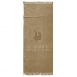 Greenwich Polo Club  Πετσέτα Θαλάσσης Essential Beach Towel-Pareo 2876 Beige Jacquard Cotton (70x170)