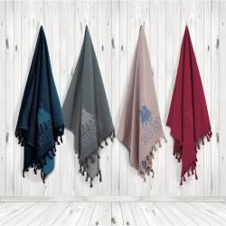 Greenwitch Polo Club  Παρεό Essential Beach Towel-Pareo 2815 Blue Jacquard Cotton  (90x170)