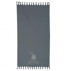 Greenwitch Polo Club Παρεό Essential Beach Towel-Pareo 2816 Grey Jacquard Cotton  (90x170)