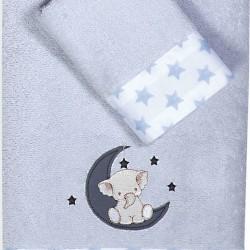 Nef-Nef Σετ Πετσέτες Above The Stars Light Blue 2τμχ