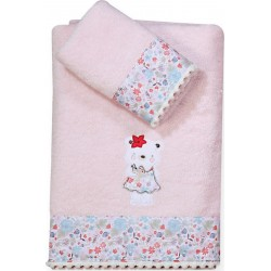 Nef-Nef Σετ Πετσέτες Tropical Blossom Pink 2τμχ