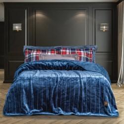 Greenwich Polo Club Κουβέρτα Βελουτέ Υπέρδιπλη 220x240 Essential Μπλε