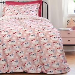 Παιδικά Σεντόνια Σετ 4676 Kid Beige-Pink Das Home Μονό - 170x260cm