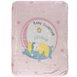 Das Home Κουβέρτα Κούνιας Relax 6561 Βελουτέ 110x140 Ροζ