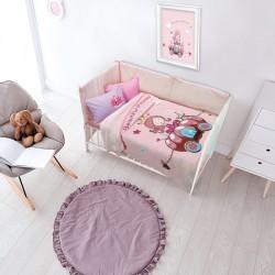Das Home Κουβέρτα Κούνιας Βελουτέ 110x140 6563 Ροζ