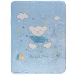 Das Home Κουβέρτα Κούνιας Βελουτέ 110x140 6564 Γαλάζιο