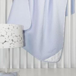 Κουβέρτα BEBE HEAVEN L.BLUE Πικέ 110X150 Guy Laroche