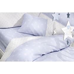 GUY LAROCHE Σετ Σεντόνια Κούνιας 3 Τεμαχίων Bebe Heaven L.Blue 115x170