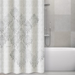 Guy Laroche Υφασμάτινη Κουρτίνα Μπάνιου 180x185 Style Silver
