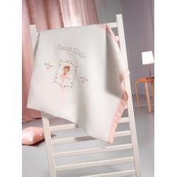 Κουβέρτα Βρεφική Πικέ Ballerina Saint Clair Κούνιας - 110x150cm