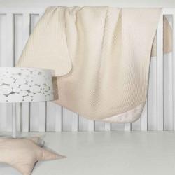 Κουβέρτα Πικέ Heaven Natural Guy Laroche Κούνιας - 110x150cm
