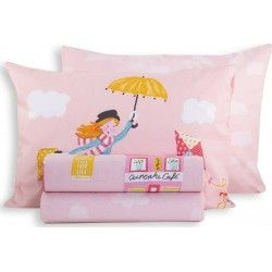 Nef-Nef Παπλωματοθήκη Σετ Mary Poppins 160x240cm Pink