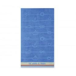 Nef-Nef Πετσέτα Θαλάσσης 70x120 World Is Yours Blue