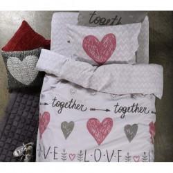 Σετ Σεντόνια παιδικά Μόνα 160x260 NEF-NEF Love Together