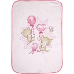 Nef-Nef Κουβέρτα Κούνιας Balloon Pets Pink Βελουτέ 140x100