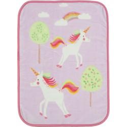 Nef-Nef Κουβέρτα Κούνιας Rainbow Story Βελουτέ 140x100 Ροζ