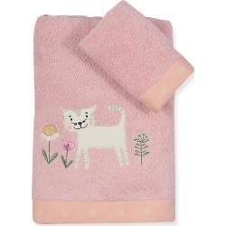 Παιδικές Πετσέτες (Σετ 2τμχ) Nef-Nef Junior Smiling Kitty