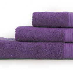 Μονόχρωμη Πετσέτα Μπάνιου Venus Nef-Nef Purple (70x140)
