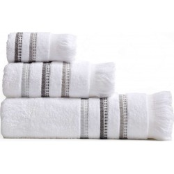 Πετσέτες Σετ 3Τμχ Limit White Nef Nef