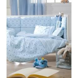 Kentia Σετ Σεντόνια Κούνιας Piccolo 120x165cm Blue