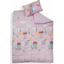 Πάπλωμα Μονό 160x220 Nef Nef Mary Poppins Pink