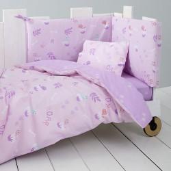 Nima Σετ Σεντόνια Κούνιας Roar 120x170 Lilac