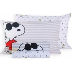 Nef-Nef Σετ Σεντόνια Snoopy Rockstar 160x260cm
