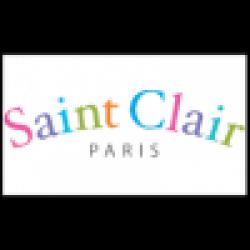 Saint Clair Σετ Σεντόνια Letters Blue 160x250cm