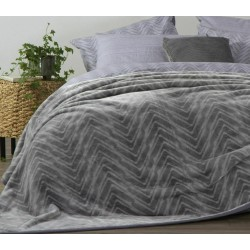 Nef-Nef Visual Κουβέρτα Βελουτέ Μονή 160x220 Grey