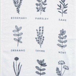Nef-Nef Ποτηρόπανο Herbs White 40x60cm
