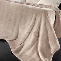 Guy Laroche Solid Camel Κουβέρτα Βελουτέ Υπέρδιπλη  220x240