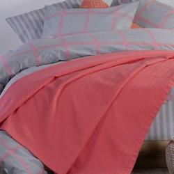 Nef-Nef Cool Κουβέρτα Πικέ Μονή 160x240 Coral