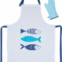 Nef-Nef Ποδιά Κουζίνας Fishes Way White 2τμχ