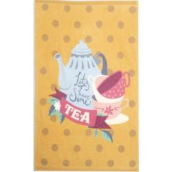 Nef-Nef Πετσέτα Κουζίνας Let's Have Some Tea Mustard 40x60cm