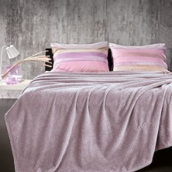 Guy Laroche Rombus Κουβέρτα Fleece Μονή 160X220 Lilac