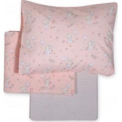Nef-Nef Σετ Σεντόνια Κούνιας Play In My Room 120x170 Pink