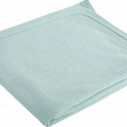 Nef-Nef Κουβέρτα Αγκαλιάς & Λίκνου Soft Βαμβακερή 80x80cm Aqua