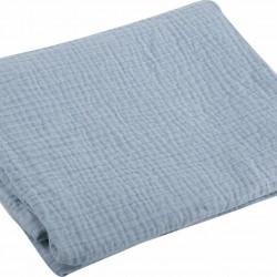 Nef-Nef Κουβέρτα Αγκαλιάς & Λίκνου Tenderness Βαμβακερή 80x110cm Light Blue